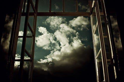 Fenetre ouverte sur ciel